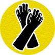 symbole de sécurité: gants