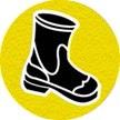 symbole de sécurité: bottes