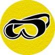 symbole de sécurité: lunettes