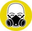 symbole de sécurité: masque respiratoire