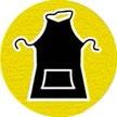 symbole de sécurité: tablier